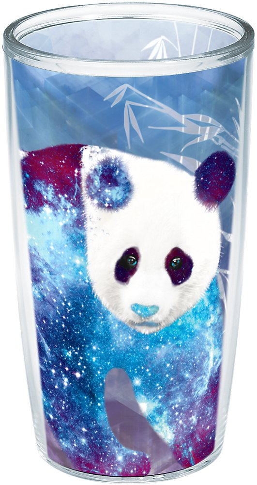 Tervis 1223437 Cool Panda Insulated Tumbler with Wrap 16oz Clear