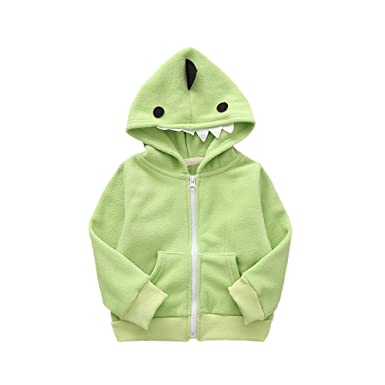 457ccbe05 Zerototens Kids Cartoon Animal Hoodie Coat
