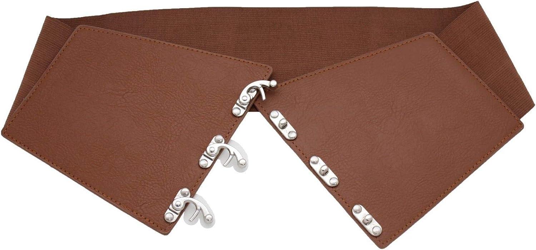 Women Hip High Waist Wide Elastic Dressy Fashion Corset Belt Hook Size L XL XXL