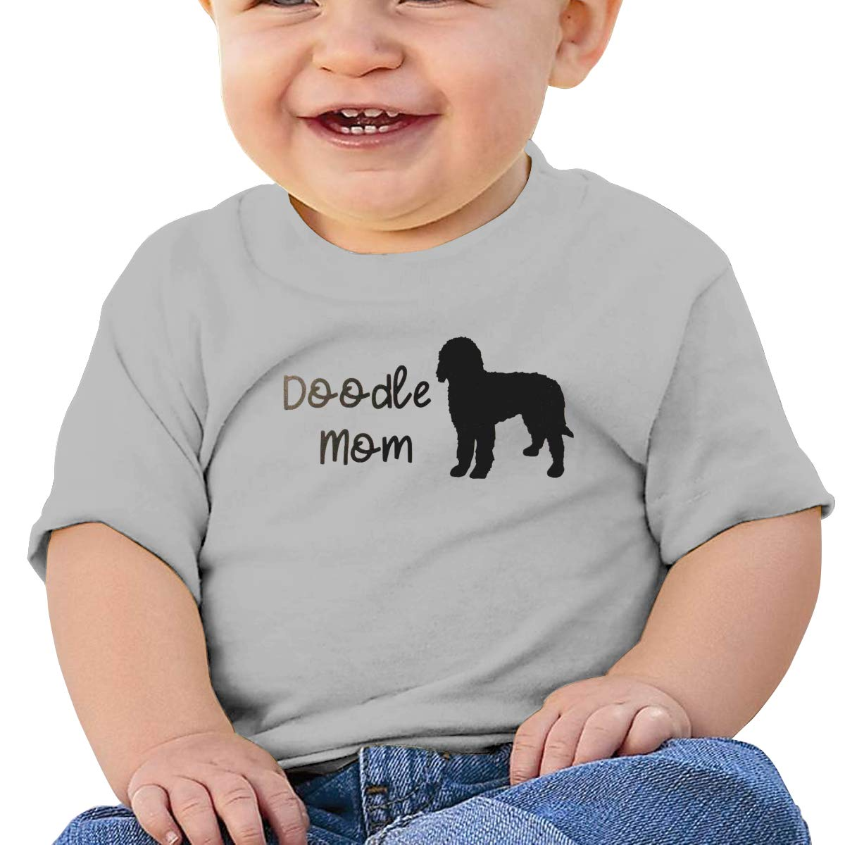 JVNSS Doodle Mom Baby T-Shirt Baby Boy Girl Cotton T Shirts Soft Graphic Tees for 6M-2T Baby