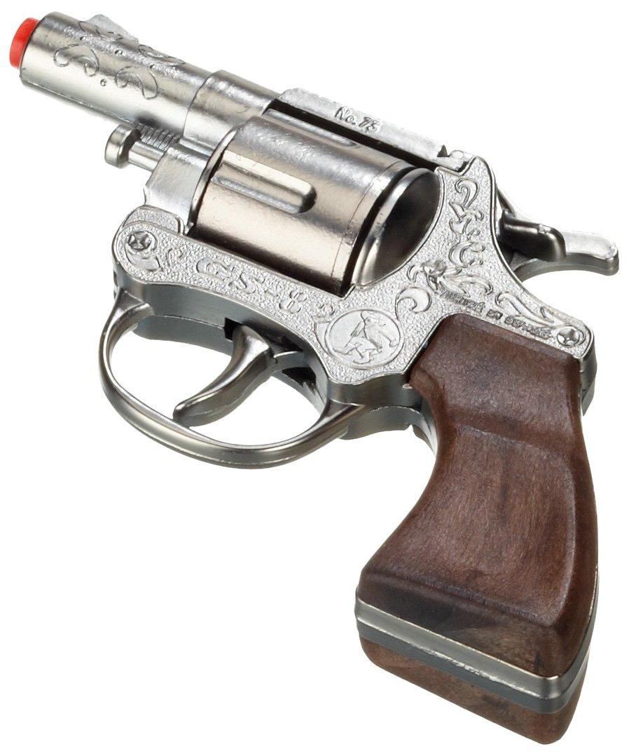 Gonher 73/0 - Revolver GS8 8-Schuss 13 cm, Zink Antik, mit Kurzlauf Gonher_73/0