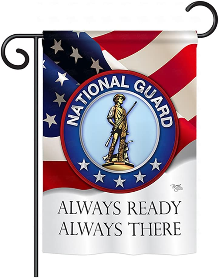 "Breeze Decor US Air National Guard Garden Flag Armed Forces Official Licensed United State American Military Veteran Retire Decorative, 13""x 18.5"", Thick Fabric"