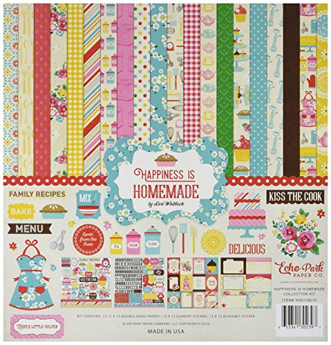 Echo Park Paper Company HIH118016 Happiness is Homemade Collection Kit by Echo Park Paper Company