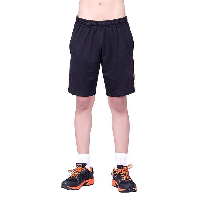 DFH Men's Cotton Shorts Black Shorts at amazon