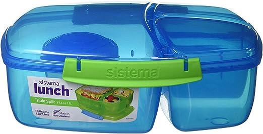 Sistema Bento Food Lunchbox Container With Fruit//Yogurt Pot Box /& Drinks Bottle