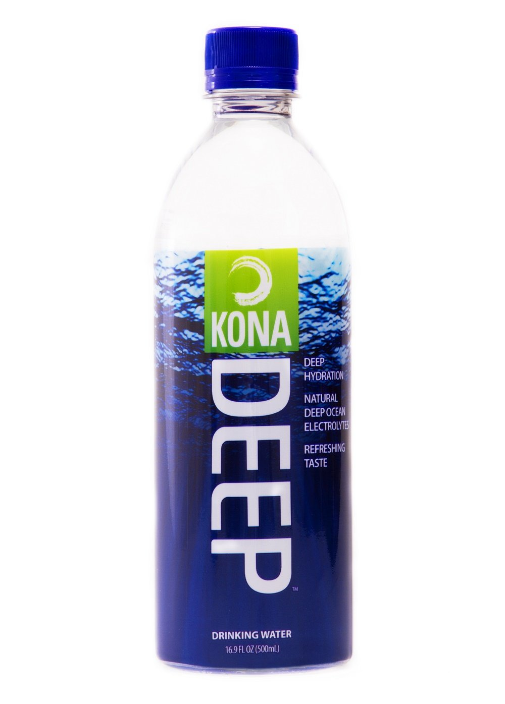 Kona Deep Pure Deep Ocean Electrolyte Mineral Water (500 ML), 24 Count