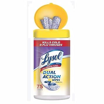 Lysol doble acción desinfección toallitas, cítricos, 75 Count