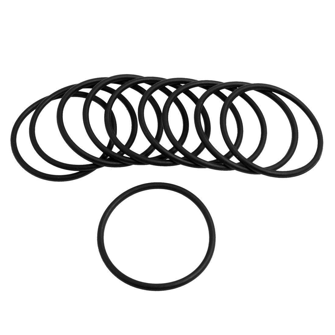 Moligh doll 10 Stueck Schwarz Gummi Oil Seal O-Ringe Dichtungen Unterlegscheiben 30x25x2.5mm