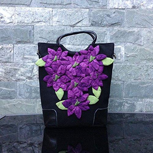 Puzzle a con Cloth Bag Cosido This y Girl niña Mano para Hand de purple étnico Hombro de Ciudad BISSER mosaic diseño made Real Estilo de Bolso a is Pavo nAnqYTg