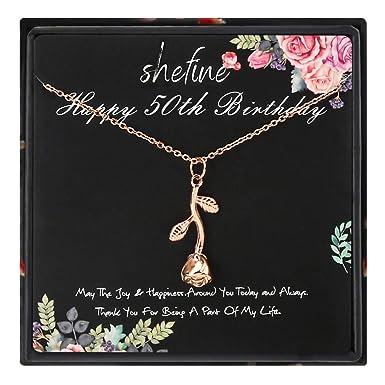 Amazon.com: Regalo de 50 cumpleaños para mujer – Collar de ...