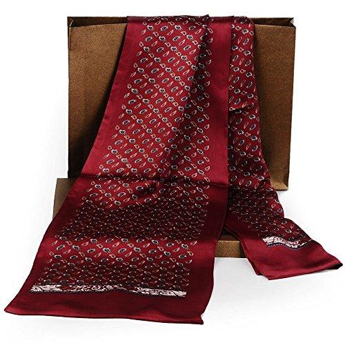 Fashion Mens 100% Silk Long Scarf/Cravat Scarives Double Layer ()