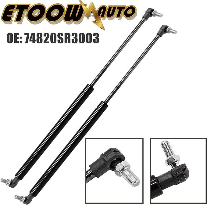 10//1991-11//1995 OEM 3-Door Hatchback ETOOW 2Qct 74820SR3003 Rear Hatch Trunk Lift Supports Shock Struts Arms Props Rods Fit for Honda Civic V 74820SR3003 EG