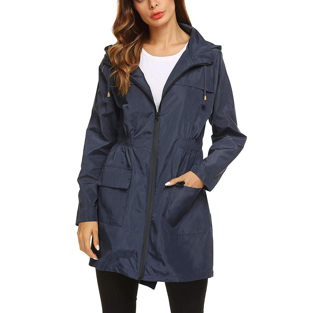 aihihe Womens Lightweight Hooded Waterproof Raincoat Windbreaker Active Outdoor Rain Jacket Parka Coats Jackets