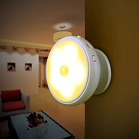 LEADSTAR Luz de noche LED Con Detector de Movimiento PIR Sensor de Movimiento 360 ° Rotativo Extraíble Lámpara de Pared Magnética Lámpara de ...