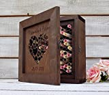 Rustic Wood Guest Book Alternative Wooden Guestbook Wedding Card Box Card Boxes Personalised Box Wedding Wishes Box 3D Wedding Book Custom Card Box Baby Shower Card Box Wedding Shower Guest Book