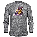 NBA Los Angeles Lakers Men's Premium Triblend Long Sleeve Tee, Heather Grey, XX-Large