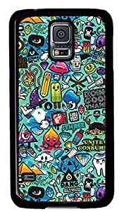 galaxy s5 case,custom samsung galaxy s5 case,TPU Material,Drop Protection,Shock Absorbent,black case,cute cartoon pattern,Cartoon graffiti
