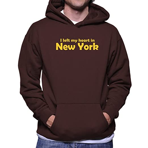 Teeburon I LEFT MY HEART IN New York Sudadera con capucha: Amazon.es: Ropa y accesorios