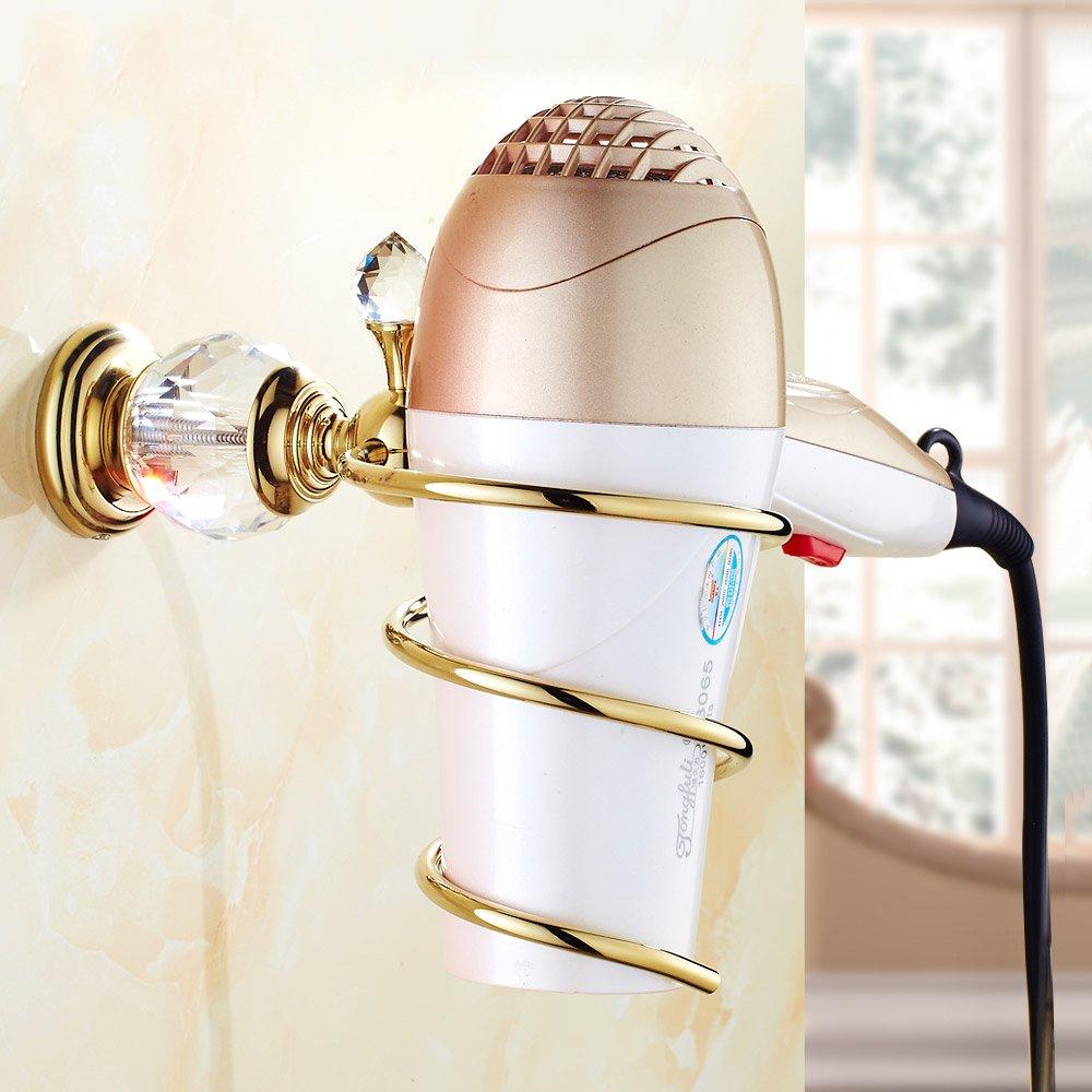DADANGSH HK-36浴室用棚ブラスクリスタル浴室壁棚壁掛けヘアドライヤーストレージヘア 浴室用アクセサリー B07M6CH7M8