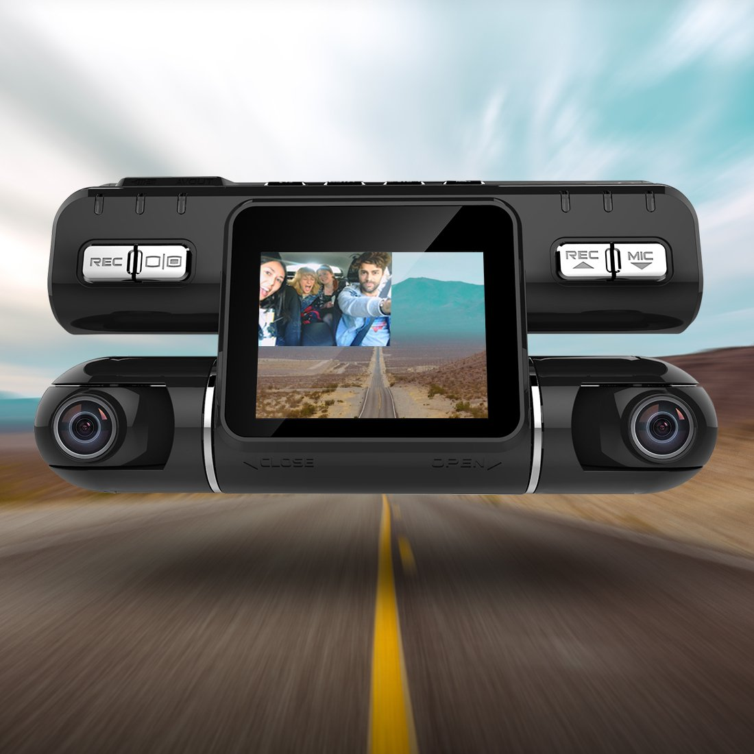 Pruveeo-MX2-Dash-Cam-Front-and-Rear-Dual-Camera-for-Cars-240-Degree-Wide-Angle-Driving-Recorder-DVR