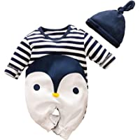 Pijama de manga larga para bebé o niña, diseño de vaca y oso
