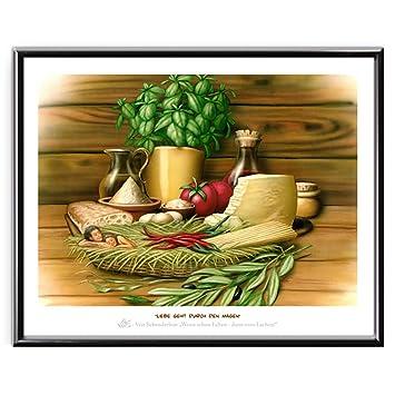 Veit`S Bilder Wandbild Cartoon Küche Esszimmer - Liebe geht ...