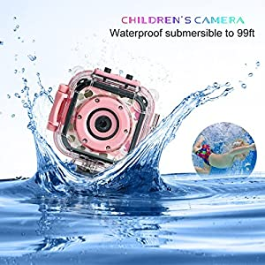 DROGRACE Children Camera Waterproof Digital Video HD Action Camera 1080P Sports Camera Camcorder DV for Kids Birthday Holiday Gift Learn Camera Toy 1.77'' LCD Screen