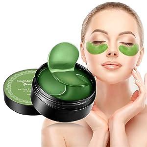 Under Eye Mask, Collagen Eye Mask, Eye Gel Pads, Green Tea Under Eye Patches, Firming Eye Mask, 60PCS Collagen Eye Patches for Eye Moisturizing, Dark Circles, Wrinkles, Fine Lines, Under Eye Bags