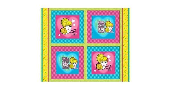 "1 yard 4-16/"" x 16/"" Mattel Barbie Doll Pillow Fabric Panels"