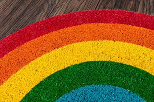 Novogratz Aloha Collection Rainbow Doormat, 1'4