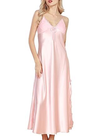 213a41ff0f454 Dolamen Women's Nighties Satin, Ladies Soft Silky Pyjamas Lace Nightwear,  Luxury & Sexy Lingerie