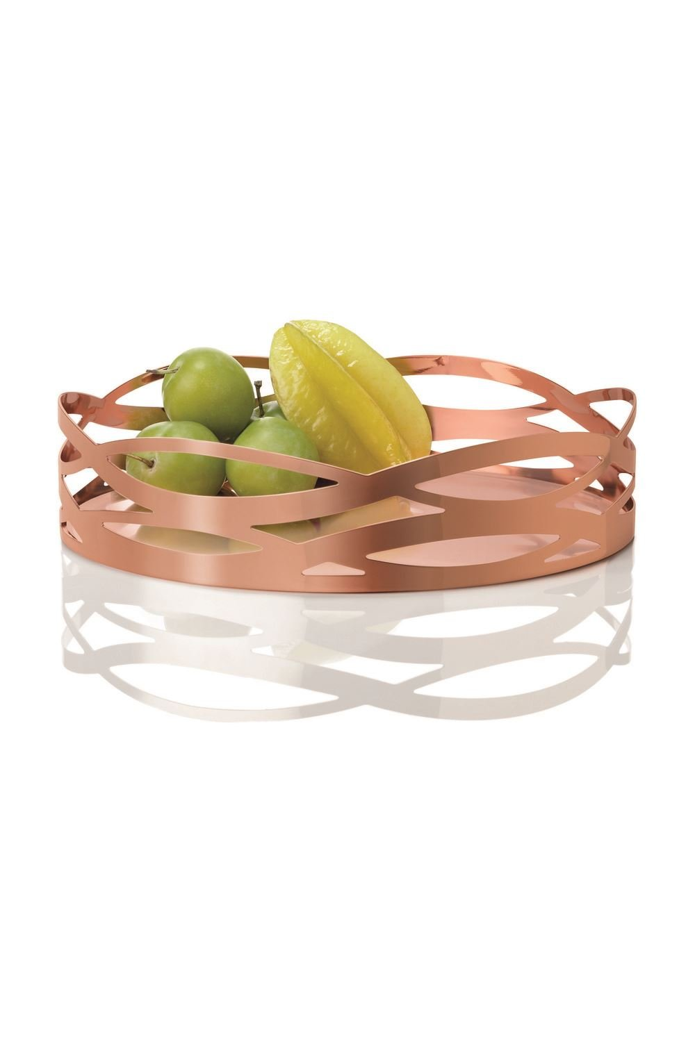 Stelton 1-Piece Copper-Covered Steel with Dirt-Repellent Coating Tangle Dish, Copper KitchenCenter x-57