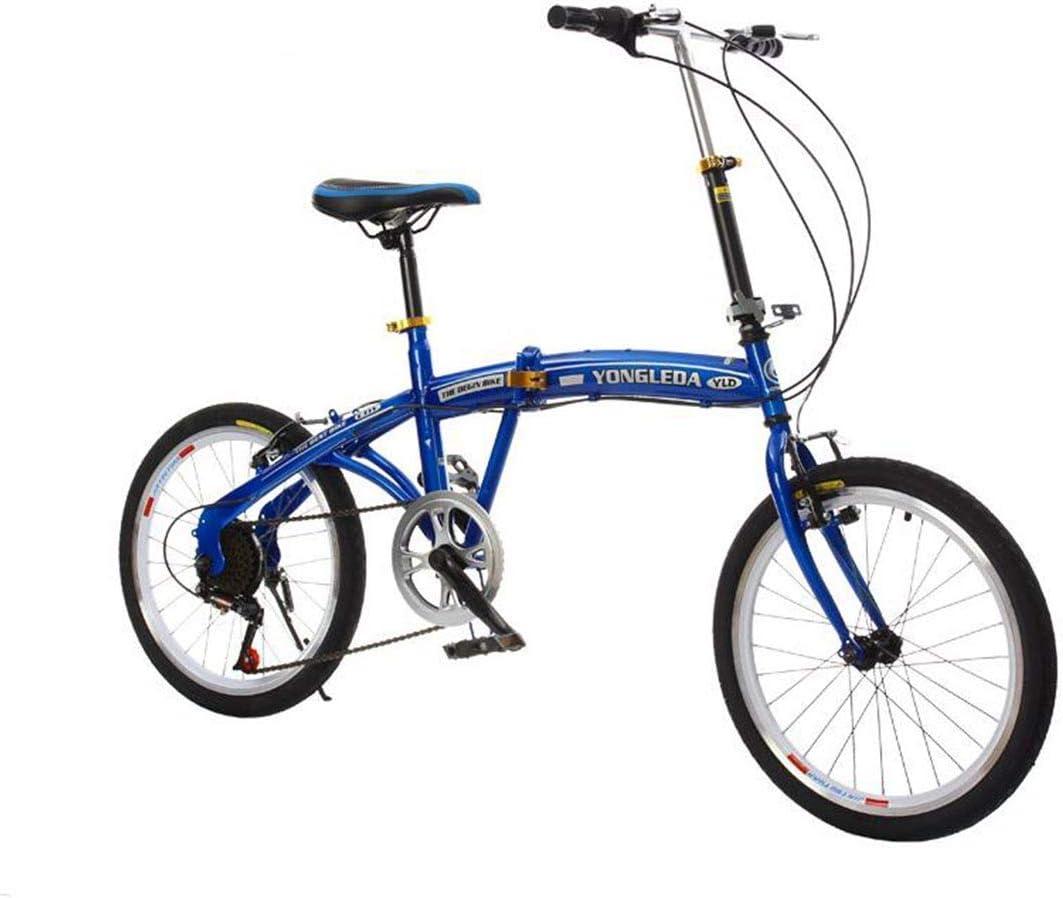 KOSGK Velocidades Variables Bicicletas MontañA Bicicletas Voladoras Livianas Freno Disco Cuadro MáS Fuerte, Azul: Amazon.es: Hogar