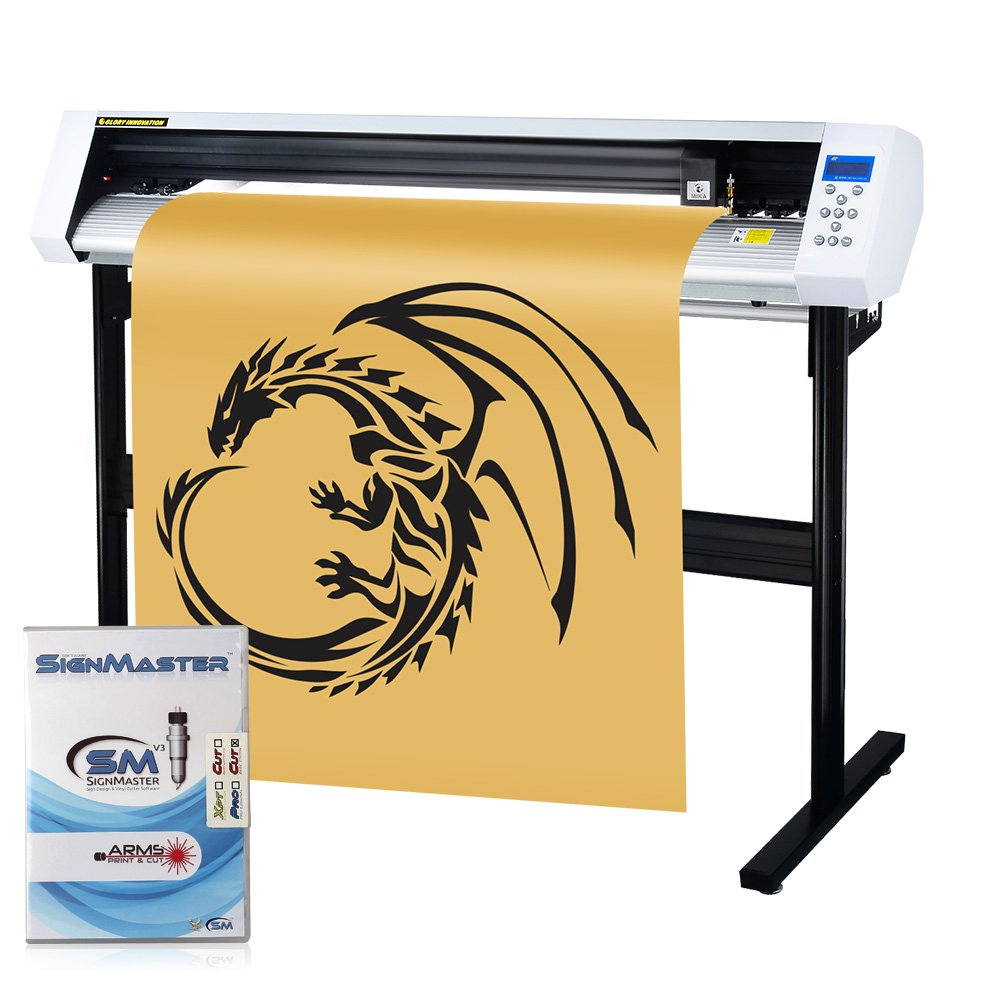 MKCUTTY 53'' Vinyl Cutter Sign Cutting Plotter Machine With SignMaster (Design + Cut) Software