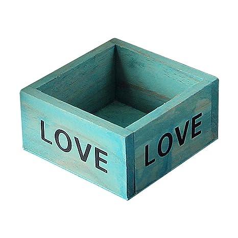 Cajas de fabl Crew | Caja de madera recipiente de almacenamiento Vintage Caja Tiesto Contenedor Caja