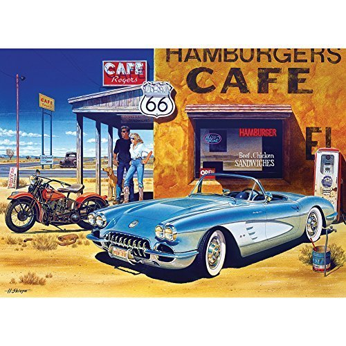 Masterpieces Route 66 Cafe Cruisin' Jigsaw Puzzle (1000-Piece) by MasterPieces