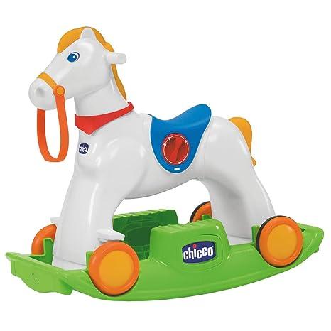 Chicco Cavallo Dondolo.Chicco 70603 Chicco Rodeo Gioco Cavalcabile 3 In 1 Multicolore