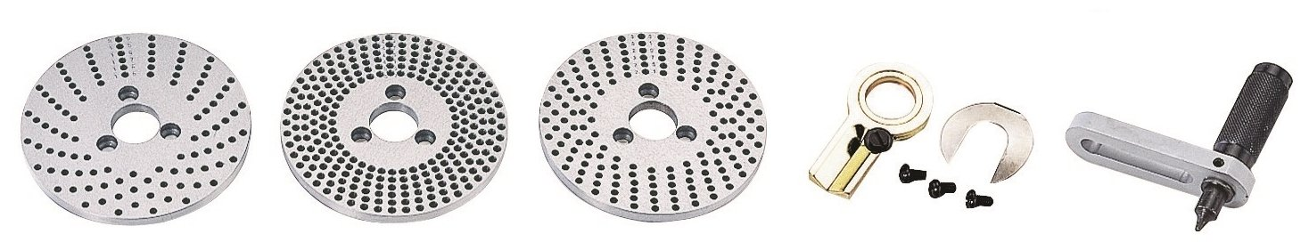 "VERTEX 3900-2390 Dividing Plate Set for 4"" or 6"" Vertex Rotary Table, 3 Piece"