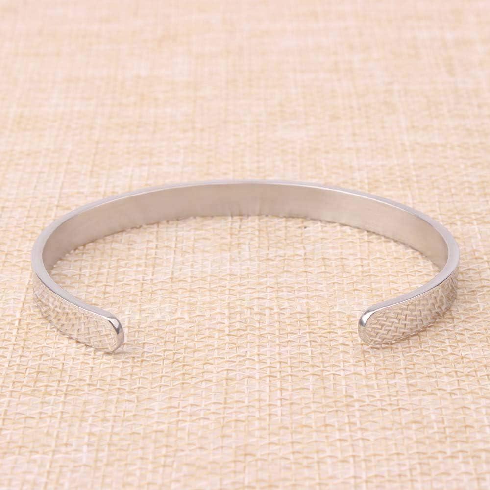 BTYSUN Bracelets estampill/és /à la Main pour Les Amis avec Gravure /« Thank U /» Bracelet Manchette en Acier Inoxydable avec bo/îte Cadeau