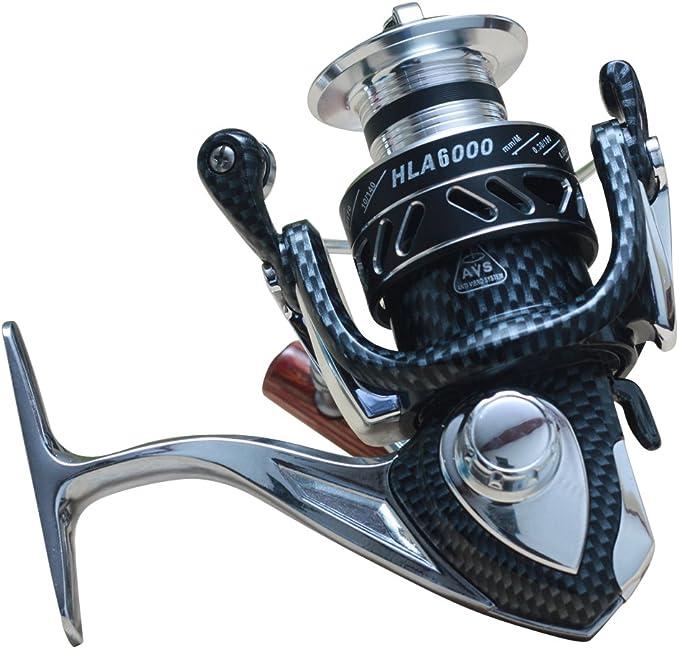 himenlens Spinning Carrete de pesca anticorrosión aleación de ...