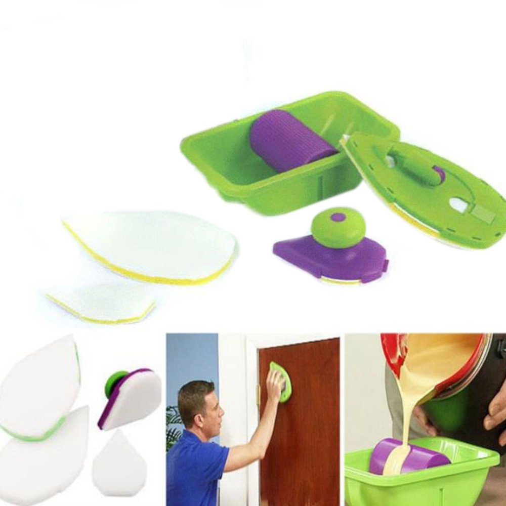 Katoot@ Paint Roller and Tray Set Painting Brush Point N Paint Household Wall Decorative Tool