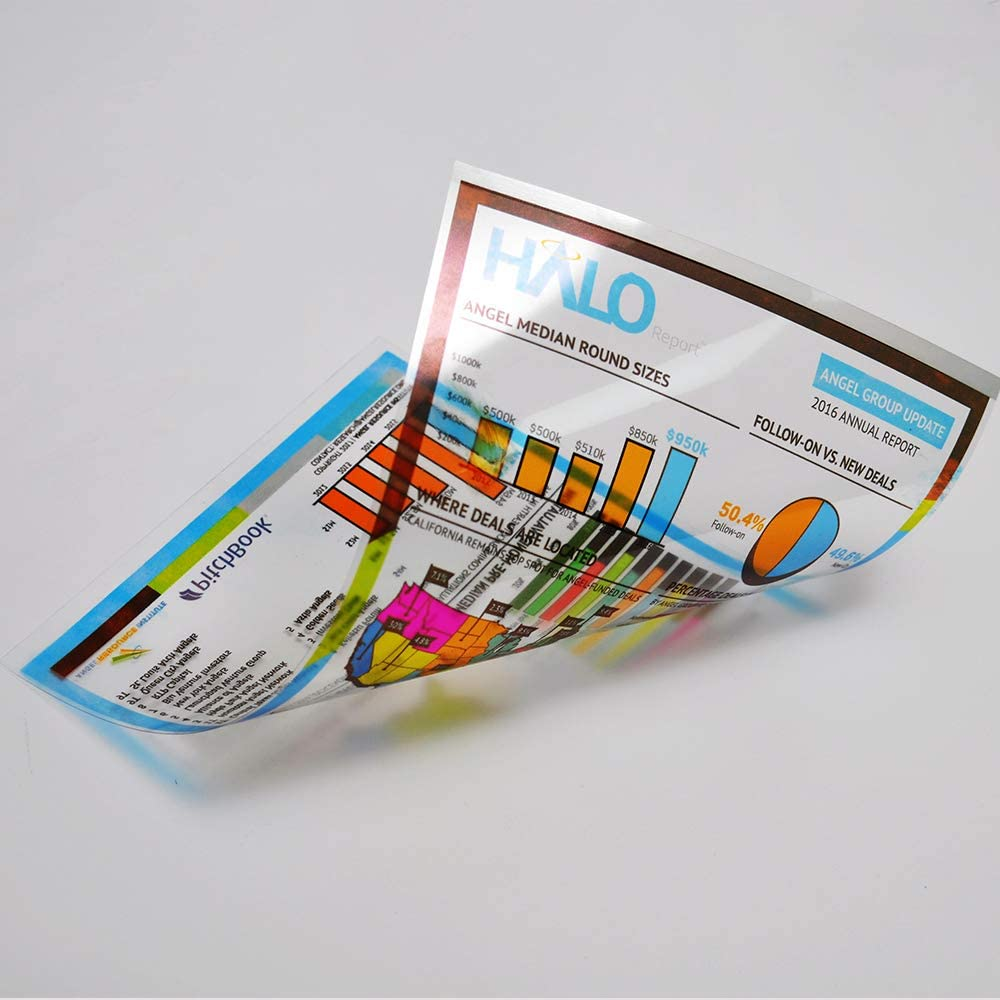 A4 OHP Film for Inkjet Printer 100sheets Overhead Project Film Transparency Sheets Film with White Stripe Uinkit