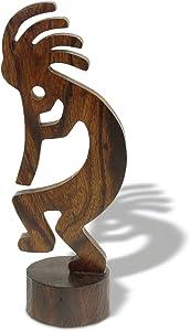 Sunland Artisans 6-7in Tall Kokopelli Ironwood Carving - Southwestern Decor