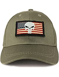 Youth Military Punisher American Flag Patch On Tactical Cap f623396c9329