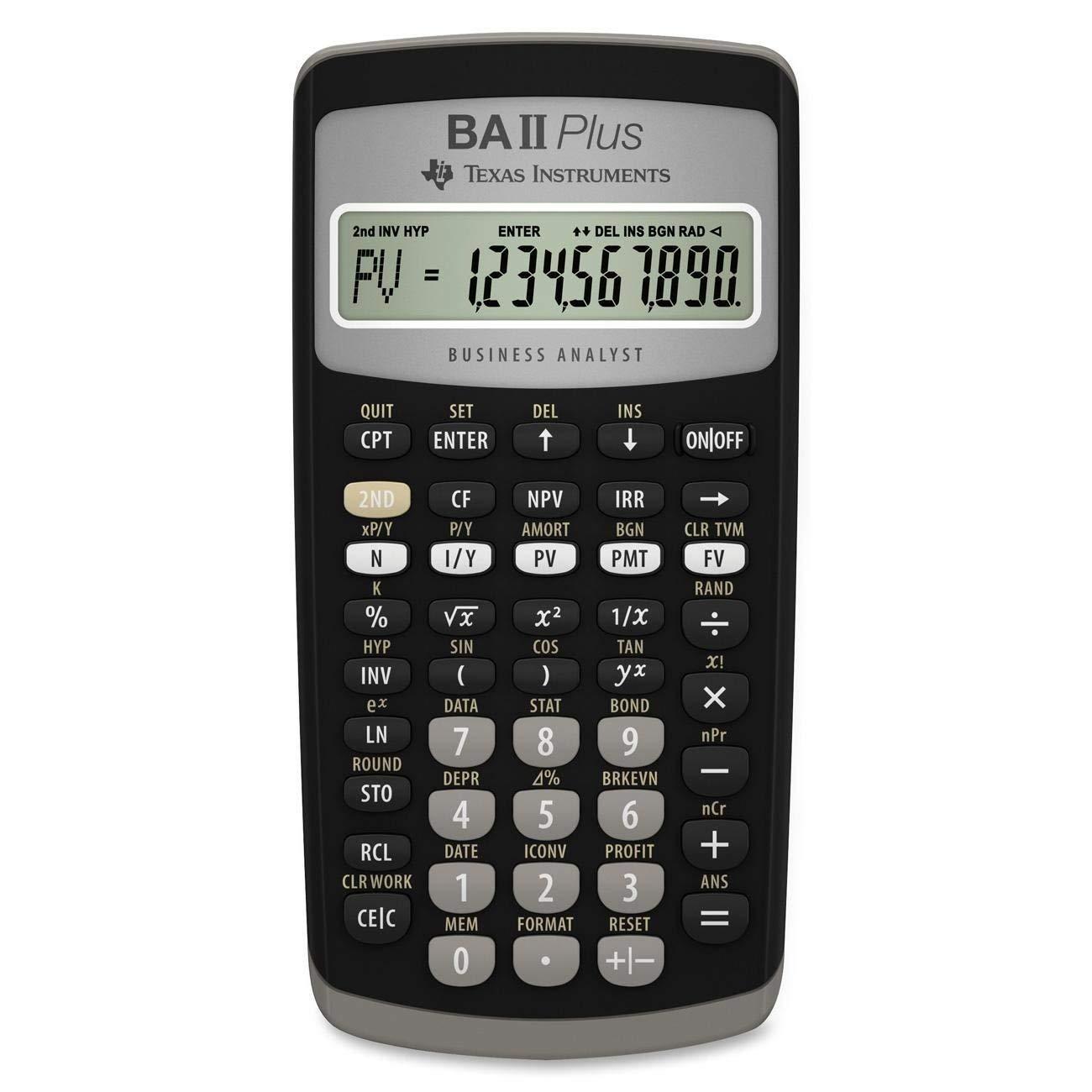 Amazon Texas Instruments Ba Ii Plus Financial Calculator