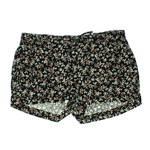 American Rag Cie Size M Elastic Drawstring Waist Loose Pocketed Floral Shorts Classic Black Combo from AMERICAN RAG CIE