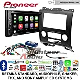 Volunteer Audio Pioneer AVH-1300NEX Double Din Radio Install Kit with Apple Carplay Bluetooth USB/AUX Fits 2008-2012 Ford Escape, Mazda Tribute, Mercury Mariner (Black)