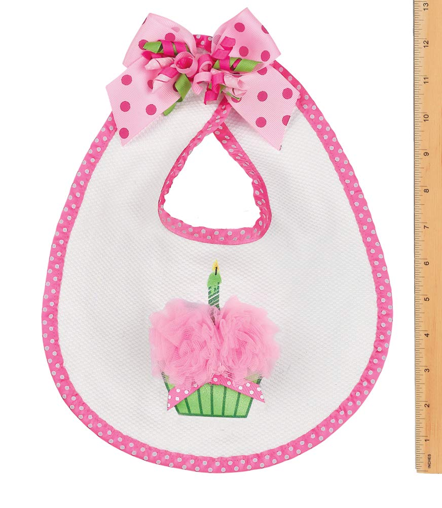 Baby handmade Bandana Dribble Bib Cupcakes On White Fun