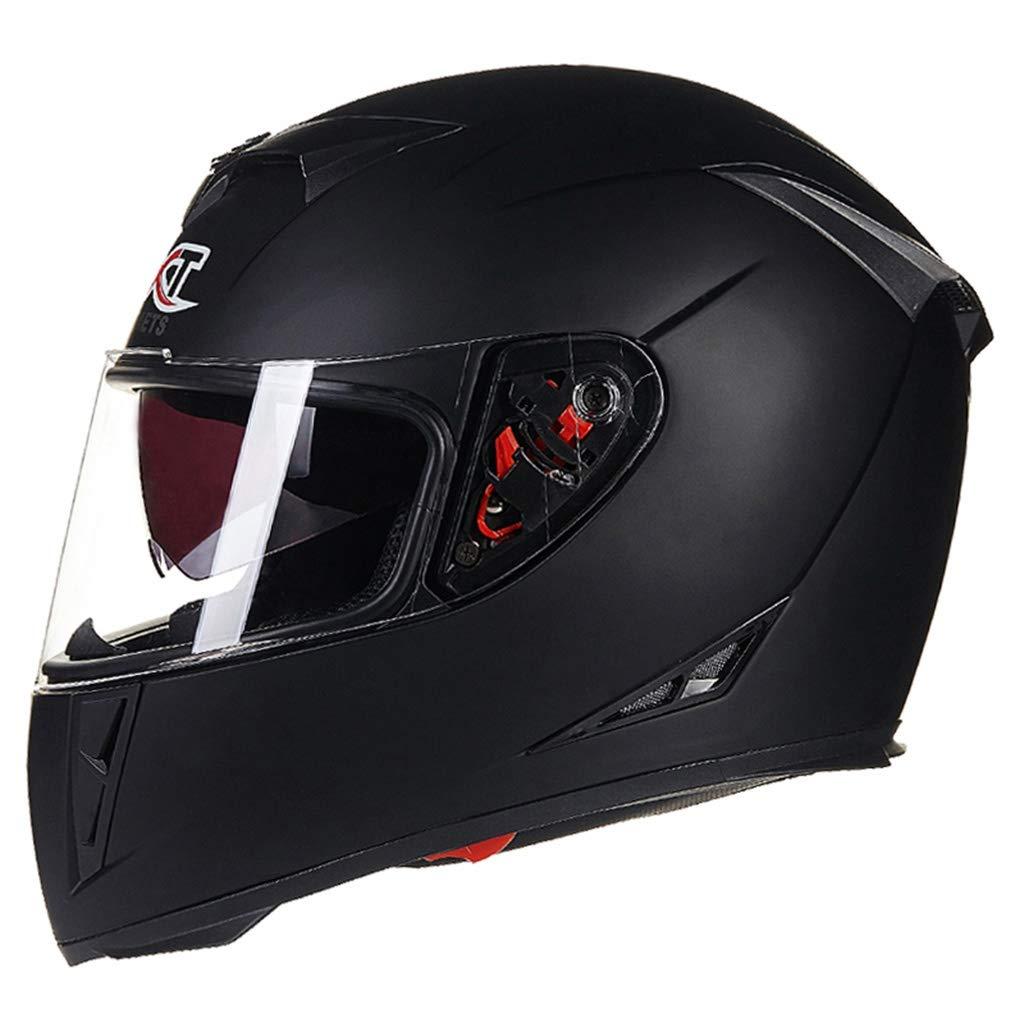 ADHW Motorrad Helm Full-face Roller Helm Doppel Brille Anti-Fog Sicherheit Mode Persönlichkeit für Männer Frauen-001