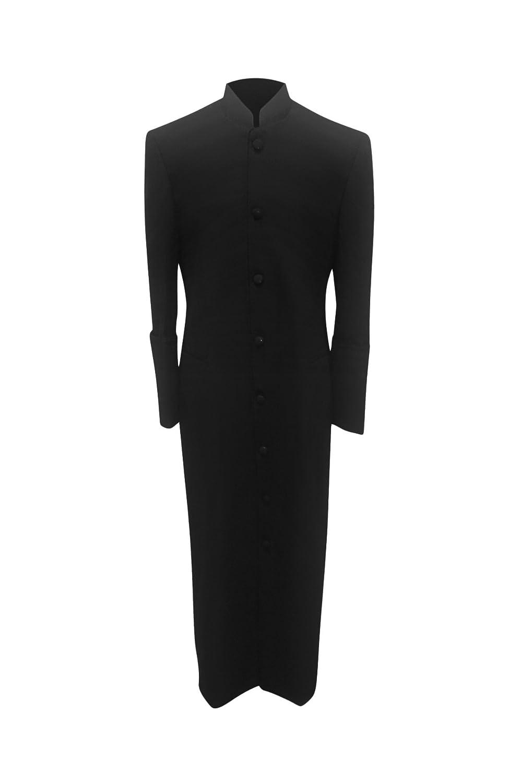 b27df3f987 Amazon.com  Your Attire Clergy Robe Preacher Cassock Black Black Outline   Clothing